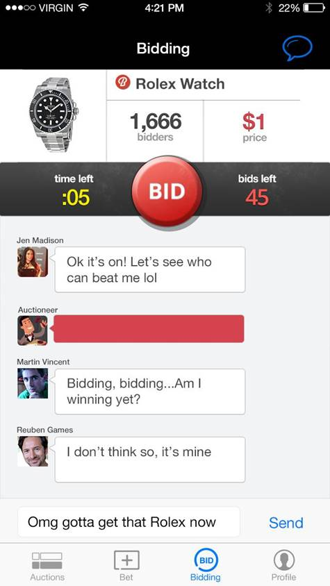 iBidCredits Auction Game